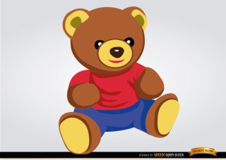 Teddy Bear Baby Toy Free Vector