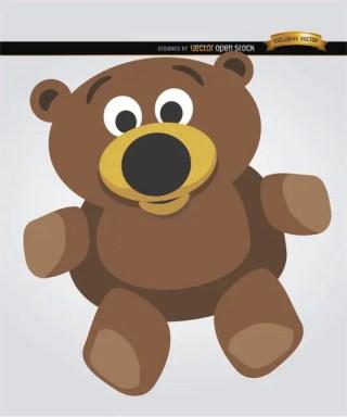 Teddy Bear Cartoon Free Vector