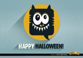 Tender Monster Halloween Promo Background Free Vector