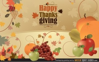 Thanksgiving Greeting Card Free Vector