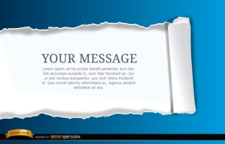 Torn Horizontal Scroll Paper Background Free Vector