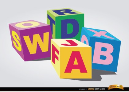 Toy Cubes For Children Free Vector