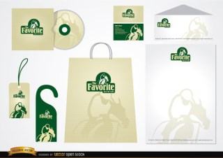 Turf Stationery Packaging Design Free Vector