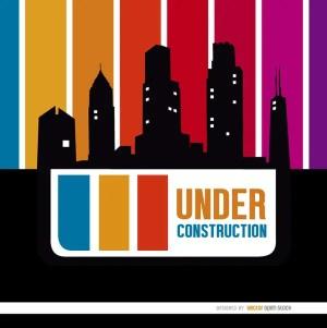 Under Construction Buildings Skyline Free Vector