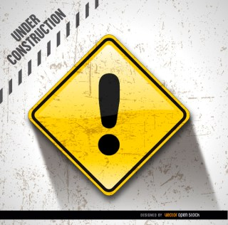 Under Construction Dirty Exclamation Free Vector