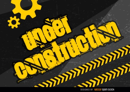 Under Construction Placard Free Vector