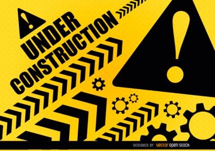 Under Construction Warning Free Vector