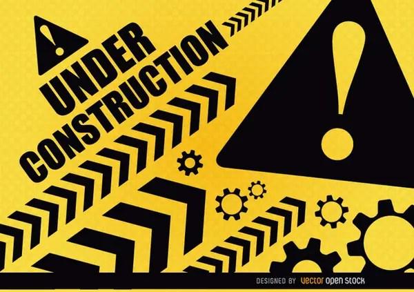 Under Construction Warning Free Vector
