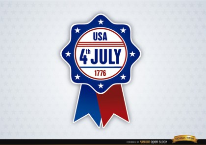 Usa July 4Th Ribbon Free Vector