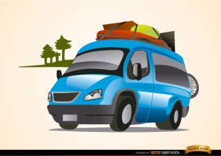 Van Auto Traveling Vacations Free Vector