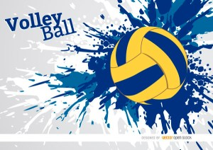 Volleyball Grunge Paint Background Free Vector