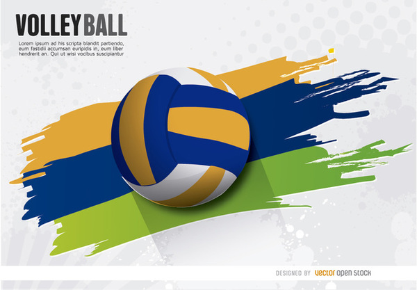 Background Abstract Volleyball Blue Yellow Ball Frame: Download Free Vector Art & Graphics