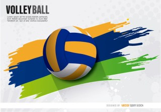 Volleyball Painted Wake Ball Free Vector