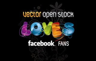 We Love Facebook Fans Free Vector