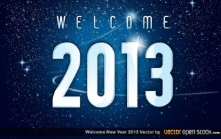 Welcome 2013 New Year Free Vector