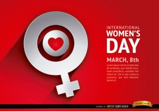 Womens Day Love Female Symbol Background Free Vector