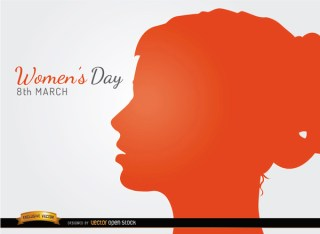 Womens Day Profile Face Background Free Vector