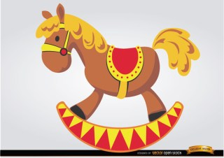 Wooden Horse Children Toy Free Vector
