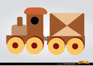 Wooden Train Children Toy Free Vector