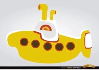 Yellow Submarine Children Toy Free Vector