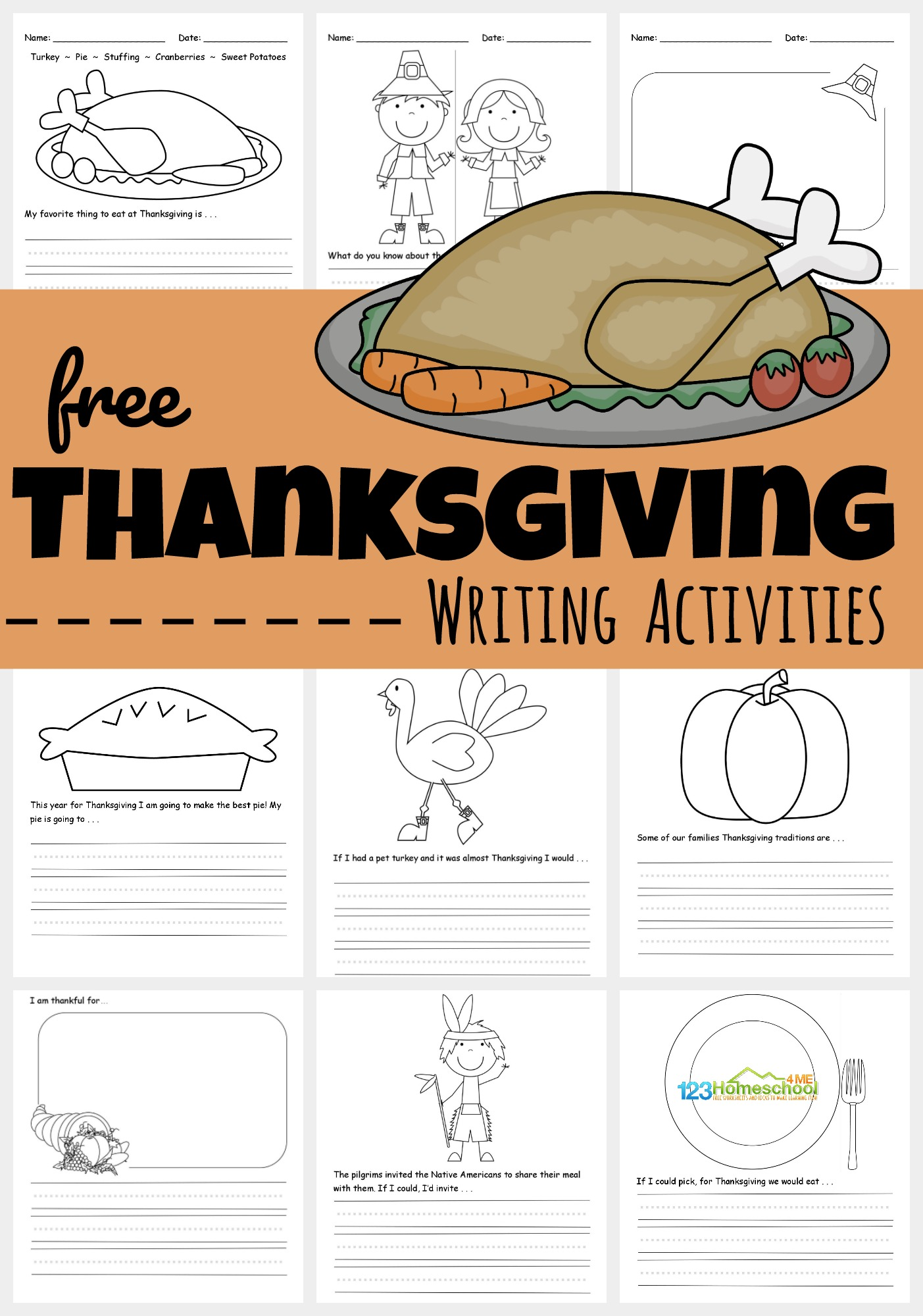 Free Printable Thanksgiving Writing Activities