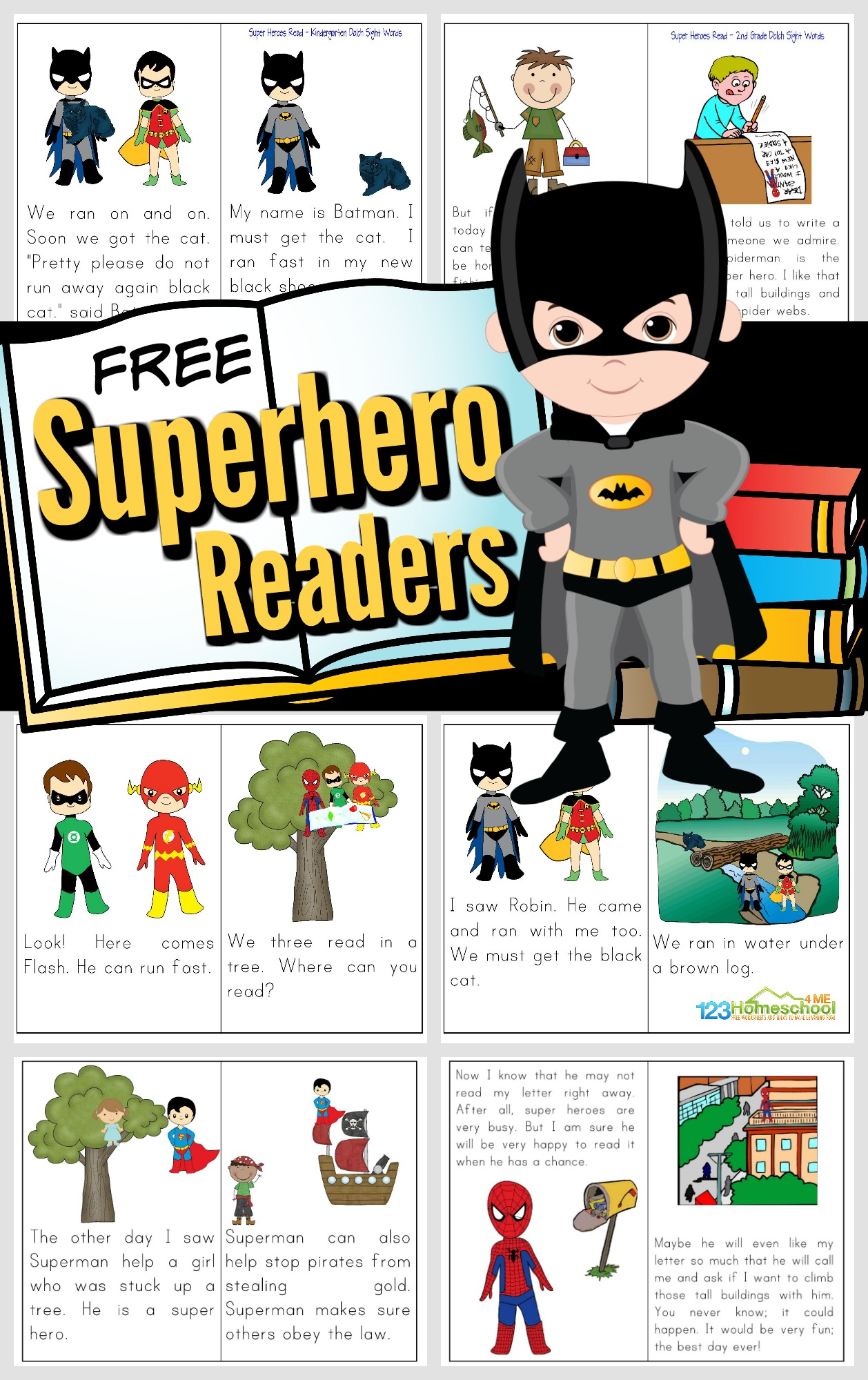 Free Printable Superhero Books