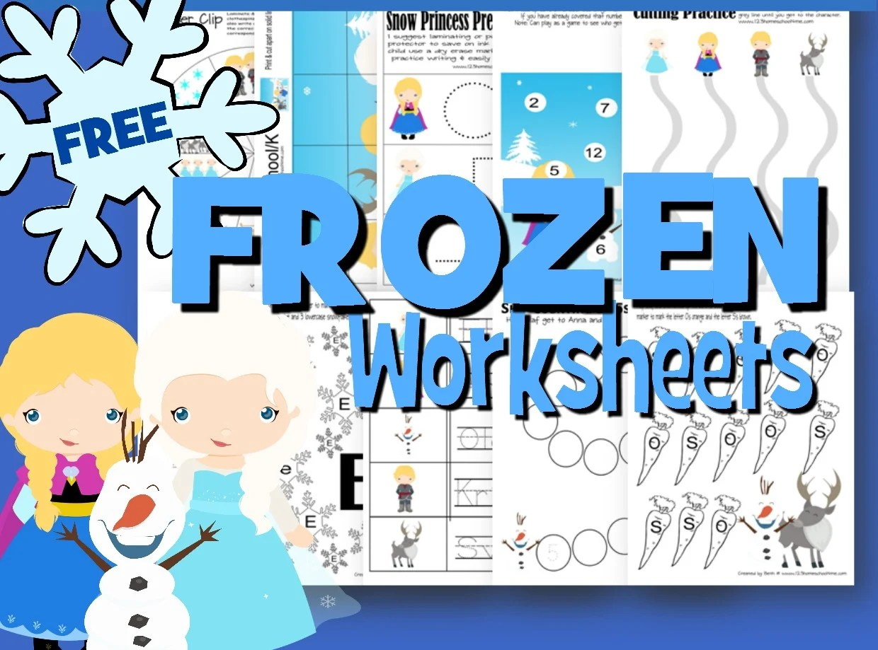Frozen Math Worksheets