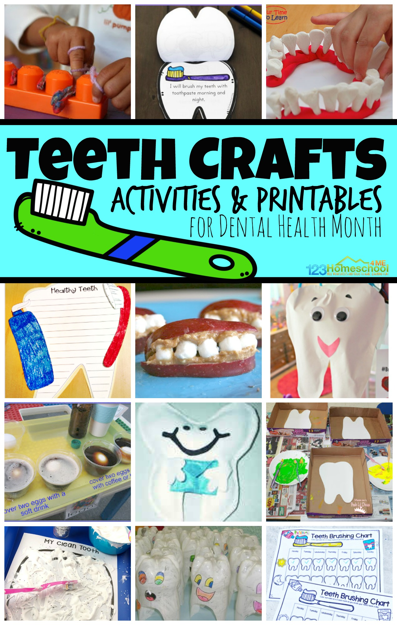 Dental Health Month Teeth Crafts And Activities