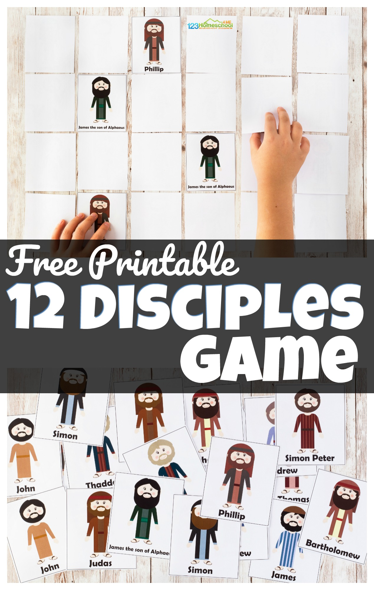 Free 12 Disciples Memory Game