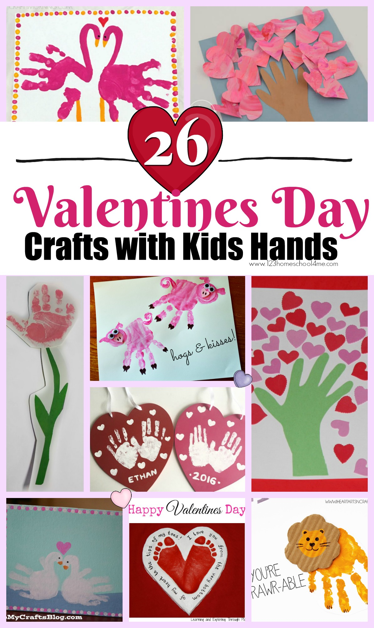 26 Cute Valentine S Day Crafts With Kids Hands