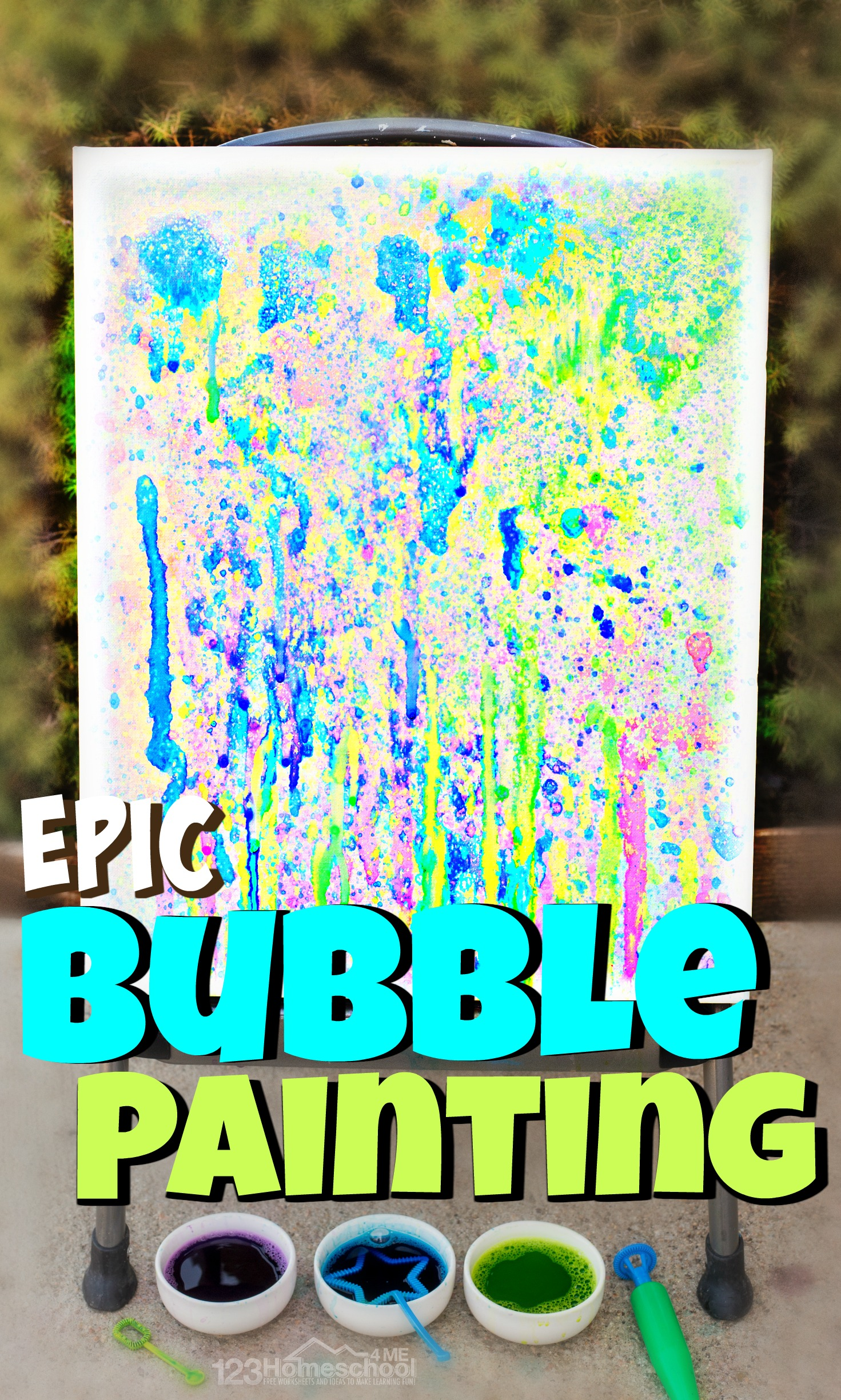 Epic Bubble Painting