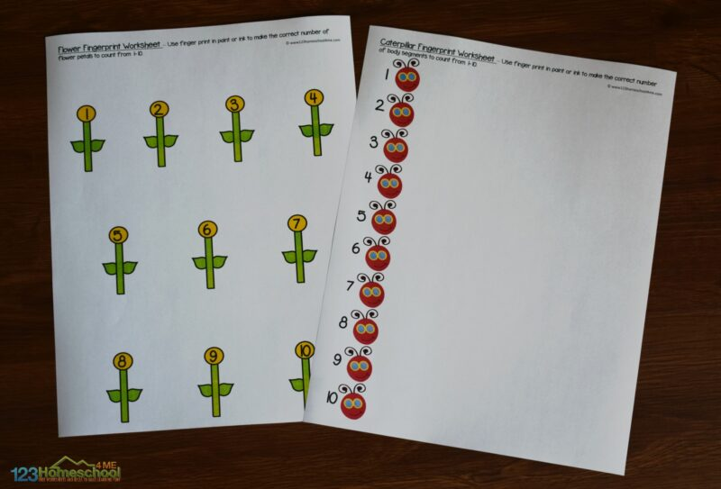 Free Fingerprint Counting Activity For Kids