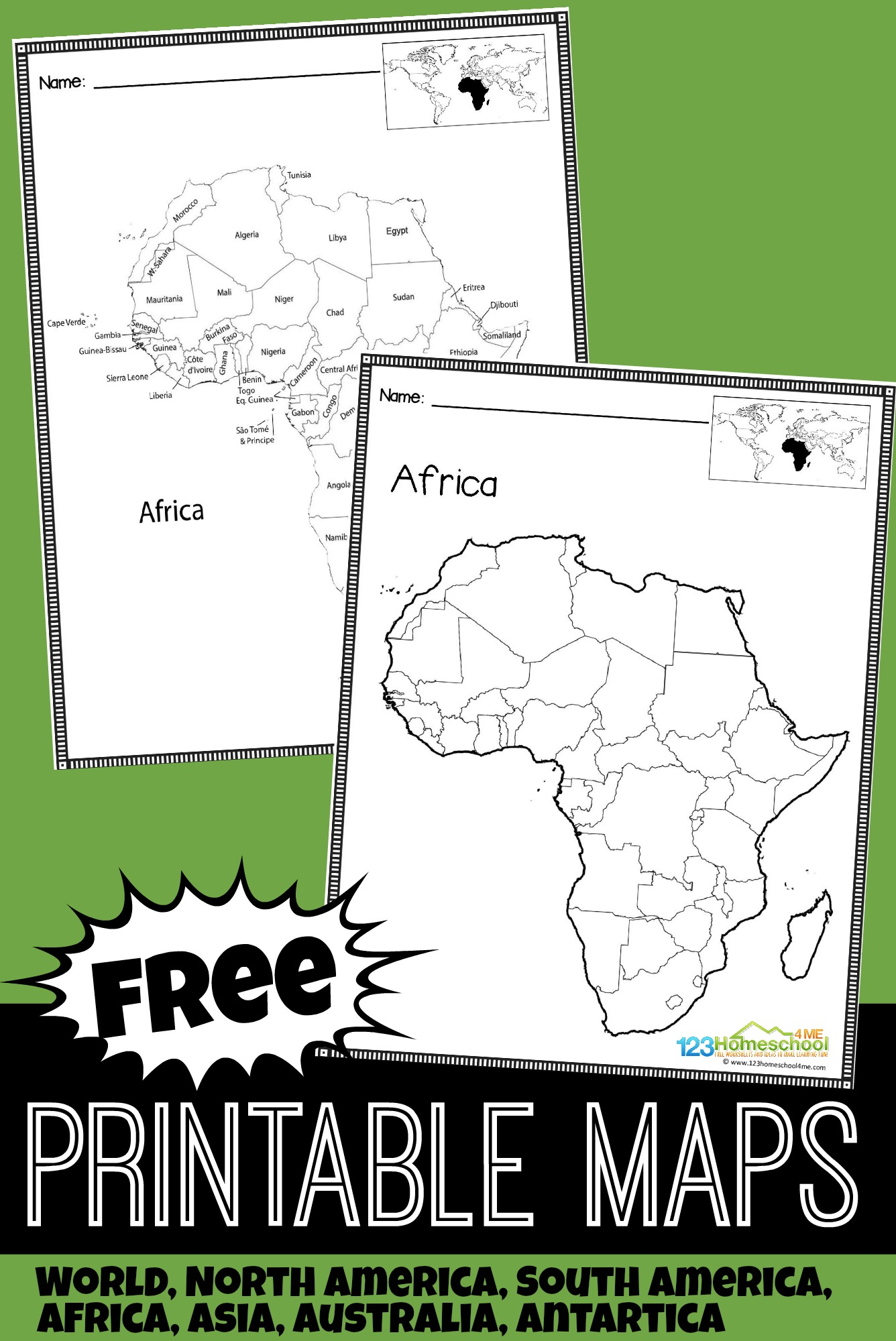 Free Printable Maps For Kids