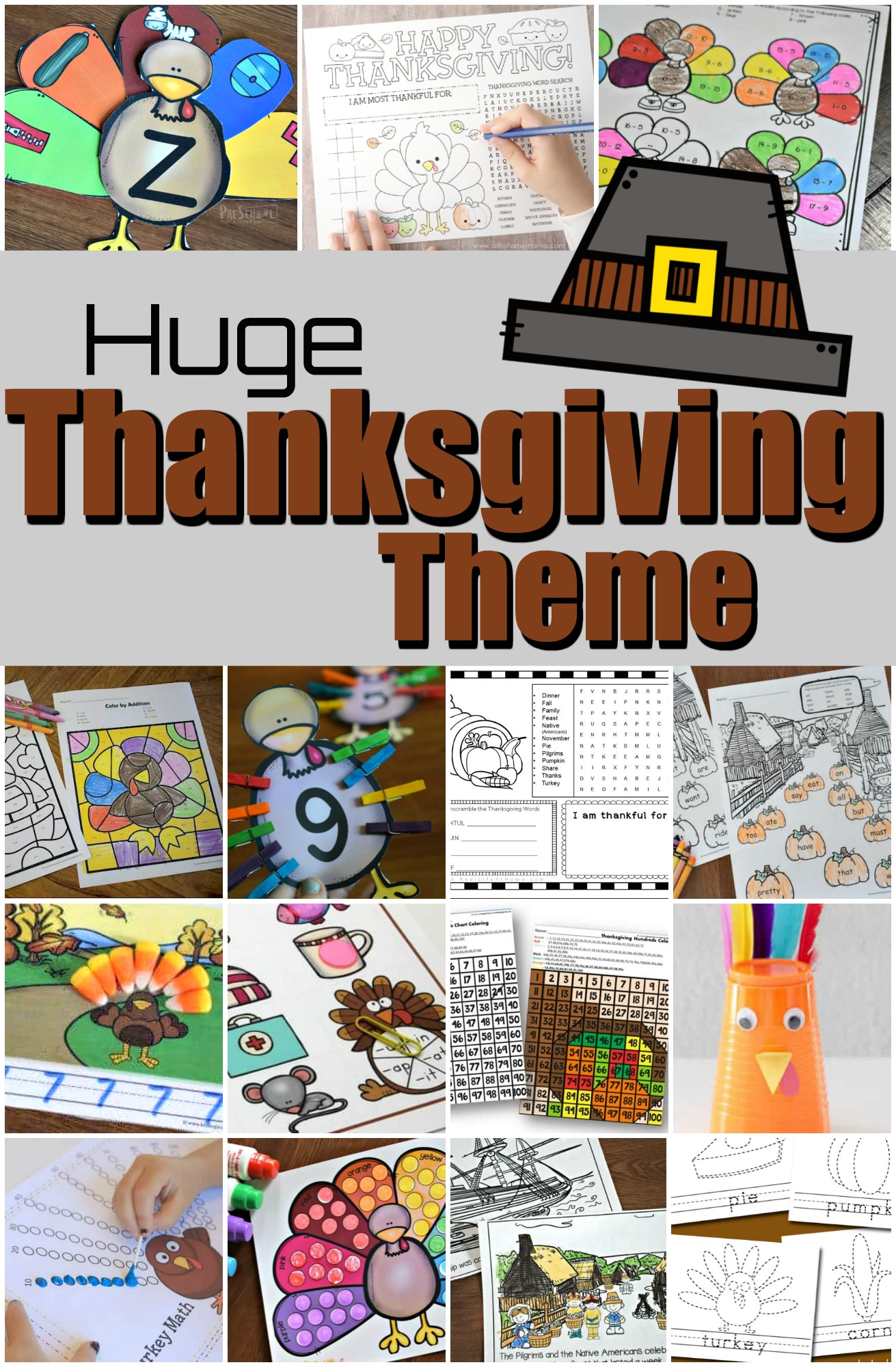Thanksgiving Theme With Lots Of Free Printables Amp Fun