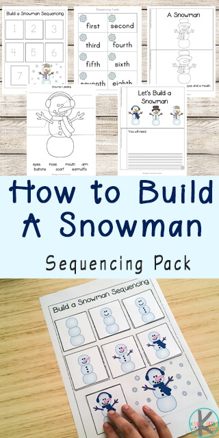 New Snowman Sequencing Worksheets