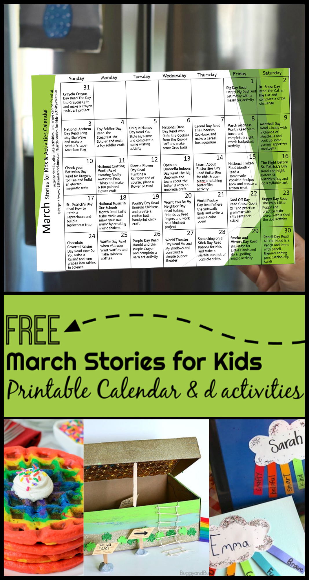 March Stories For Kids With Activity Calendar