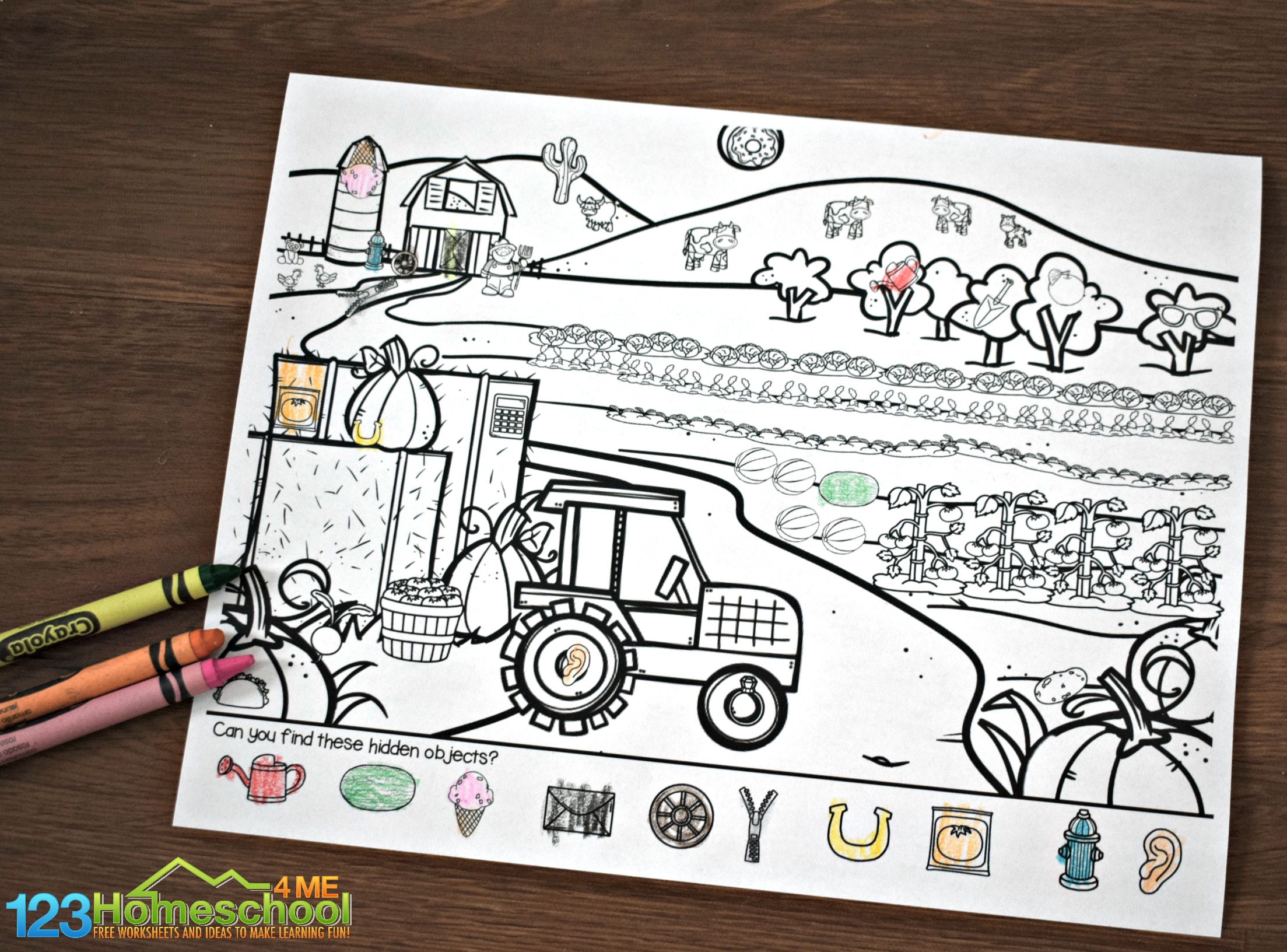 Free Farm Hidden Pictures Printable