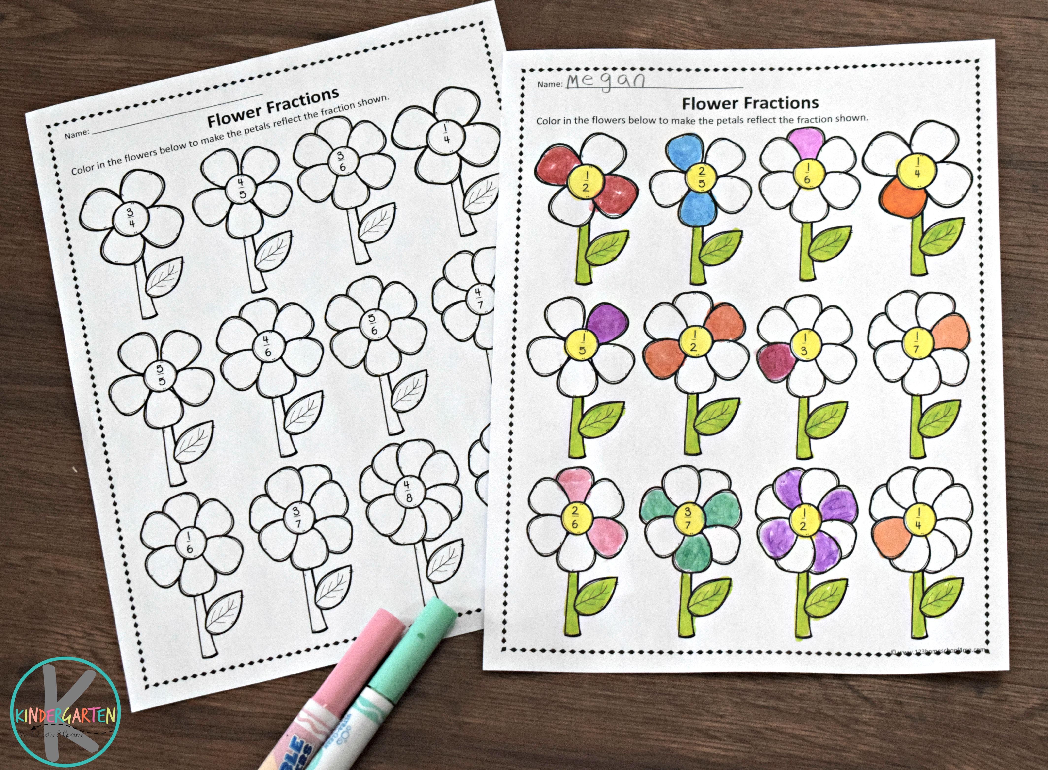 Free Flower Fractions