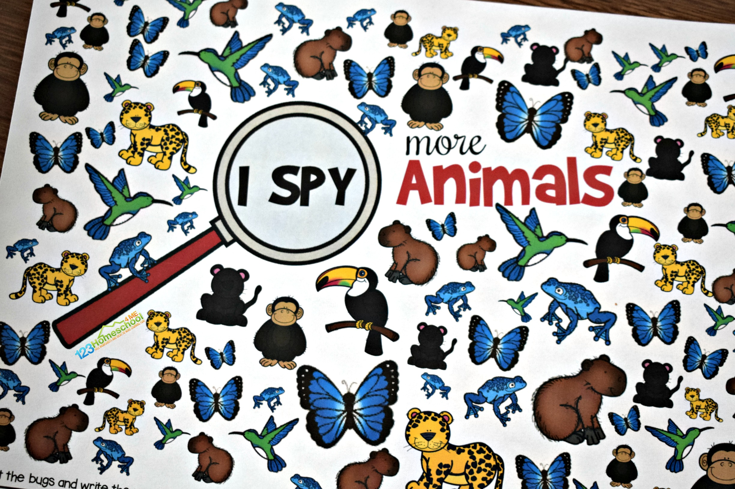 Free Printable Animal I Spy