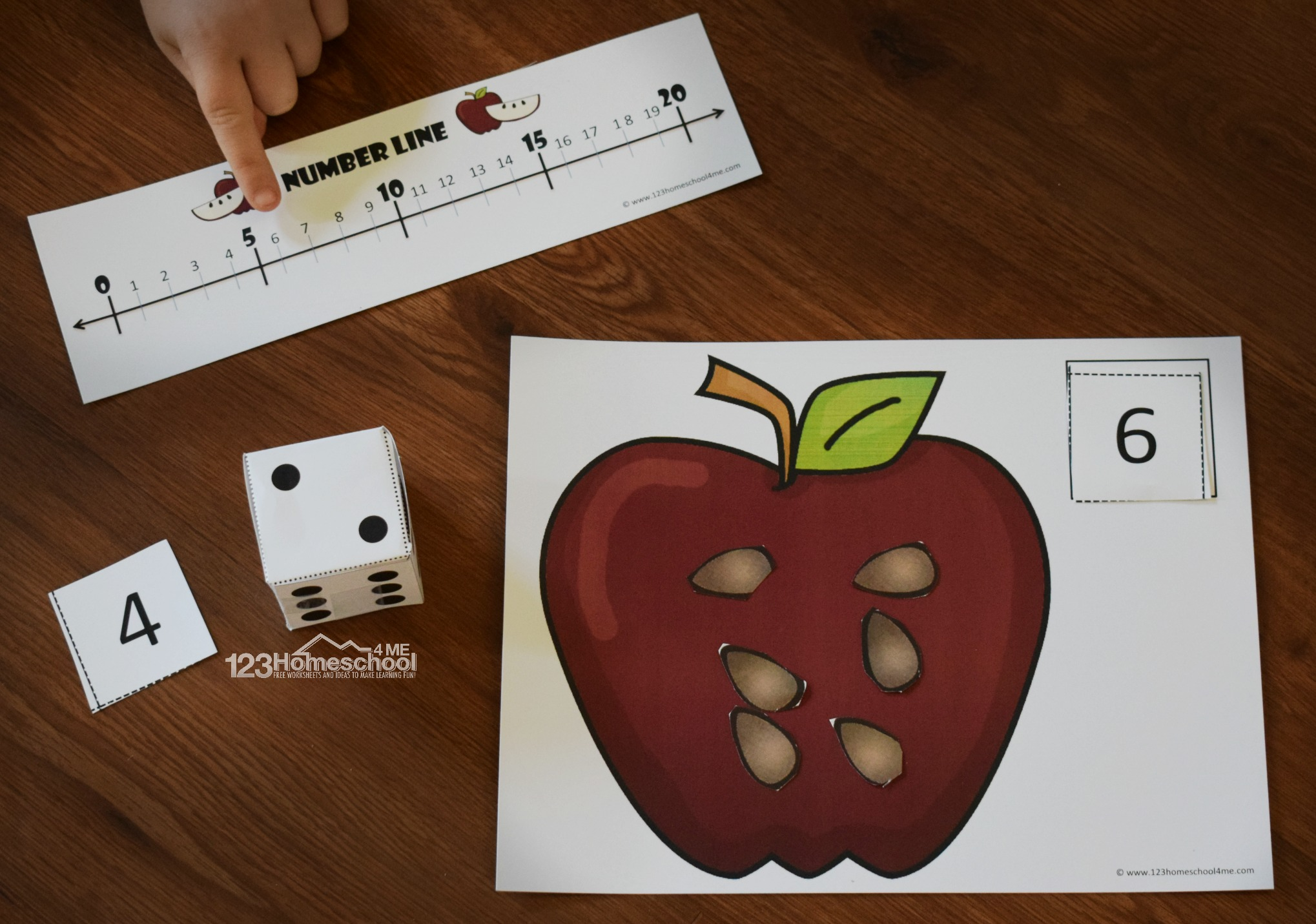 Free Count To 20 Apple Activity