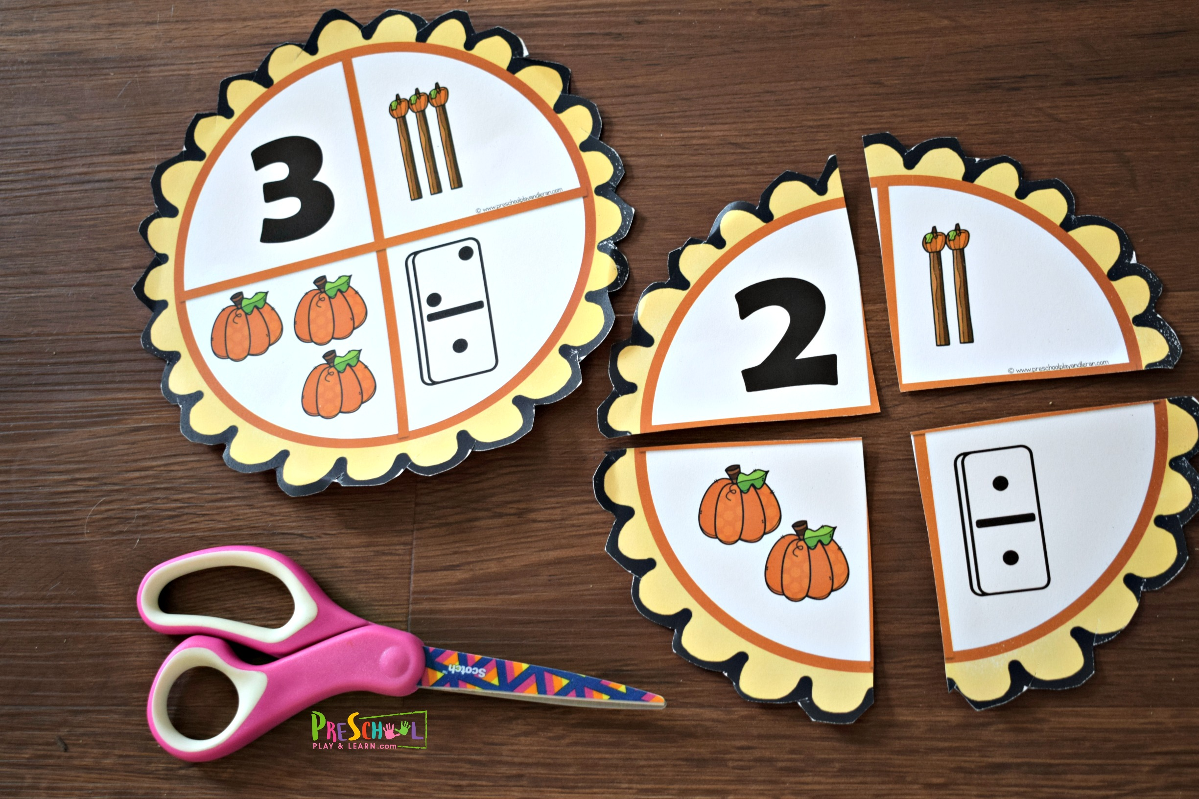 Free Pumpkin Pie Number Sense Activities For Preschoolers