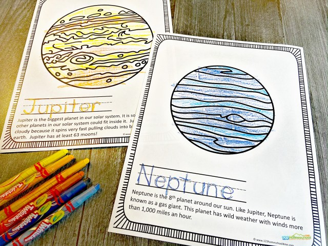 FREE FREE Printable Solar System Planet Coloring Pages