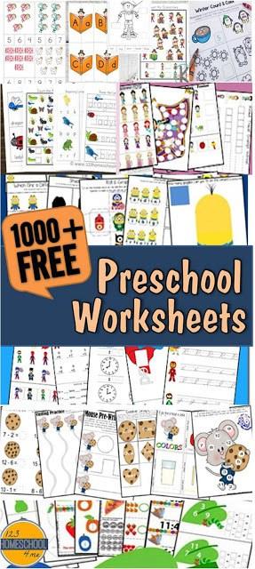 Tons Of Free Pre K Worksheets 123 Homeschool 4 Me