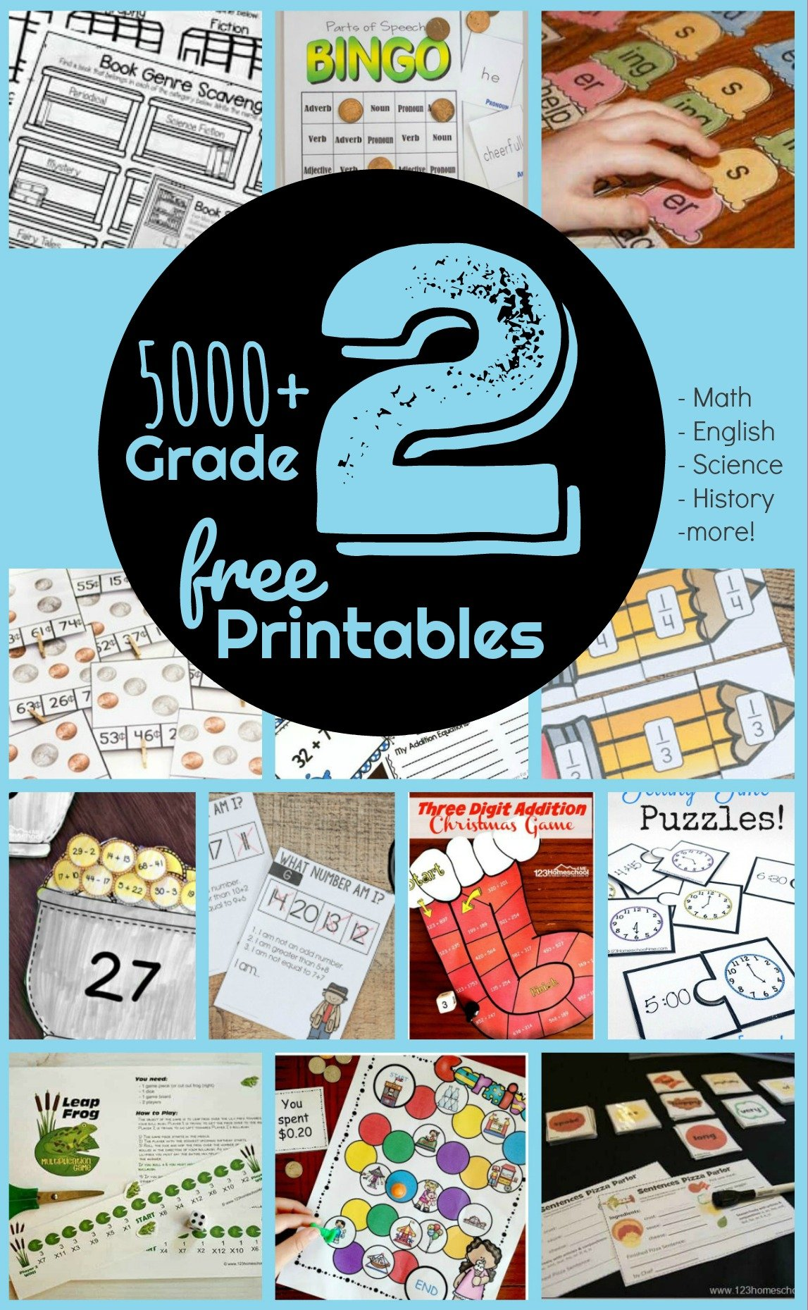 Free 2nd Grade Worksheets