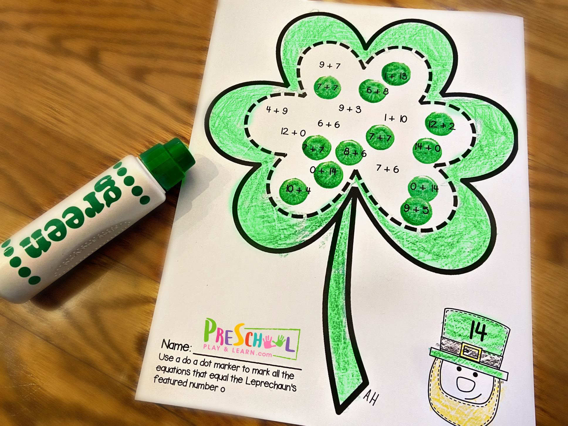 Free St Patricks Day Addition Worksheets
