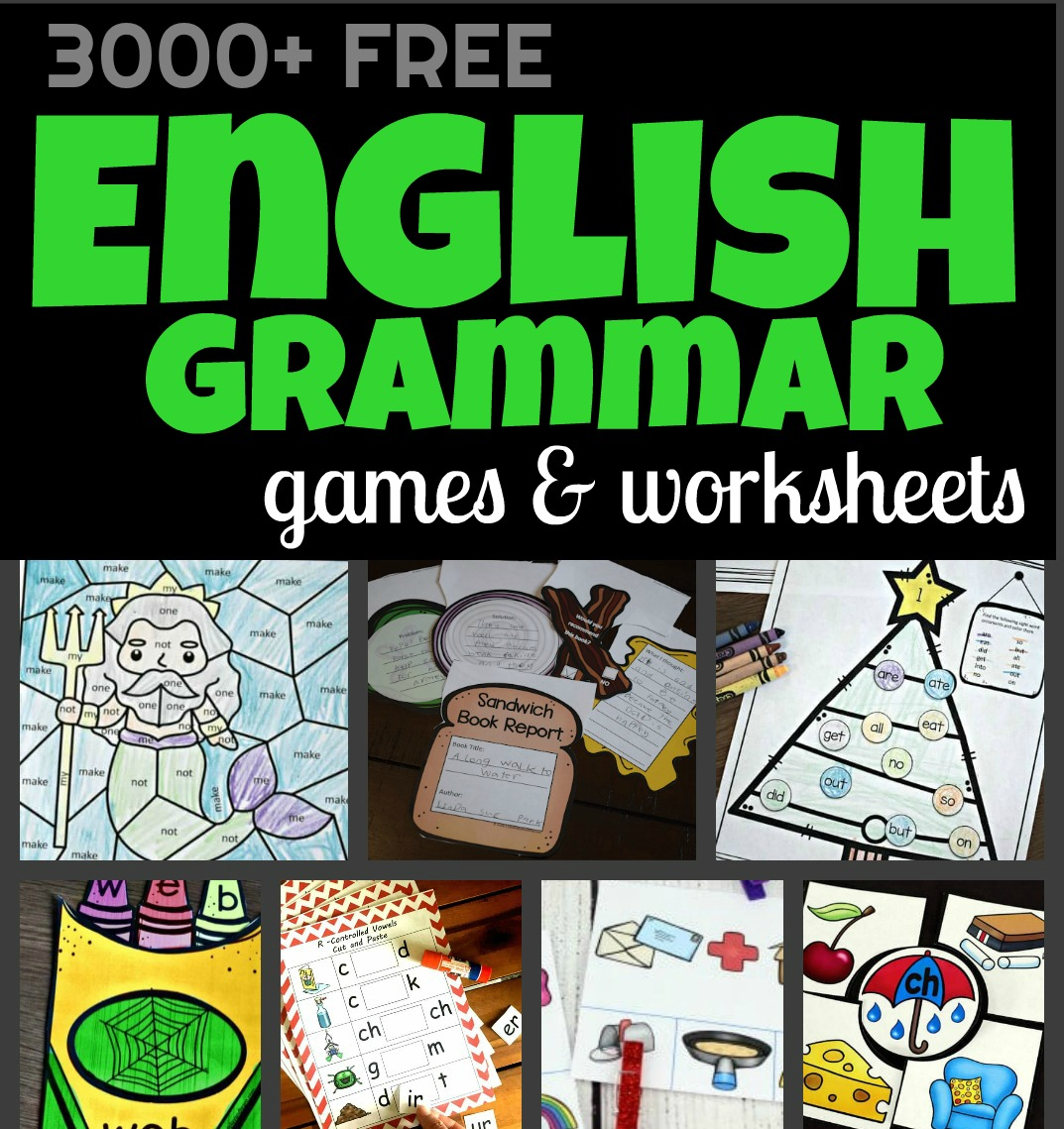 Free Language Arts Worksheets Amp Games