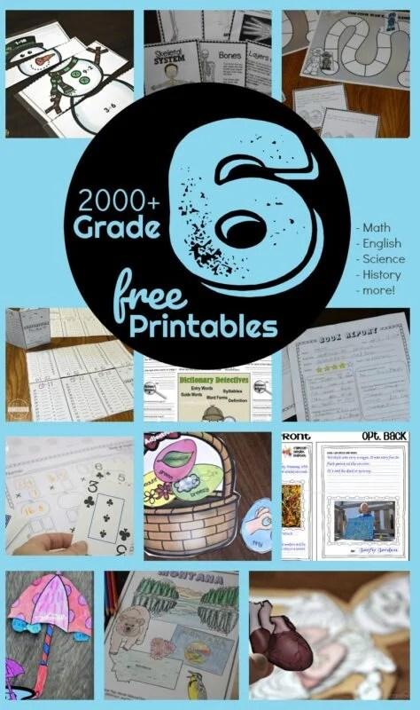 Free 6th Grade Worksheets