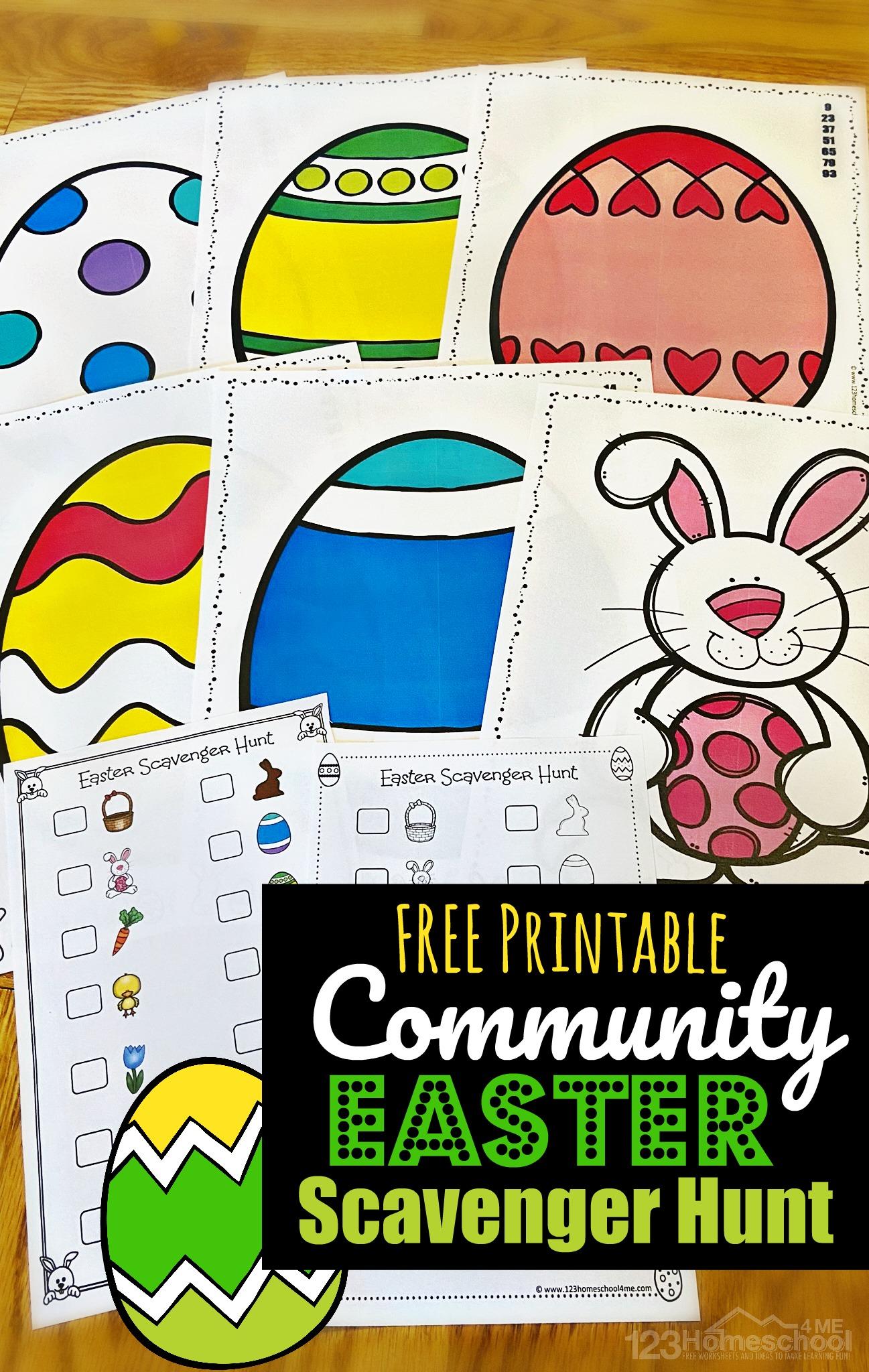 Free Printable Community Easter Scavenger Hunt
