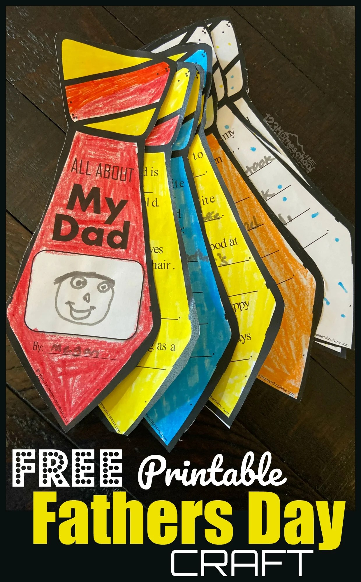 Free Printable Fathers Day Craft