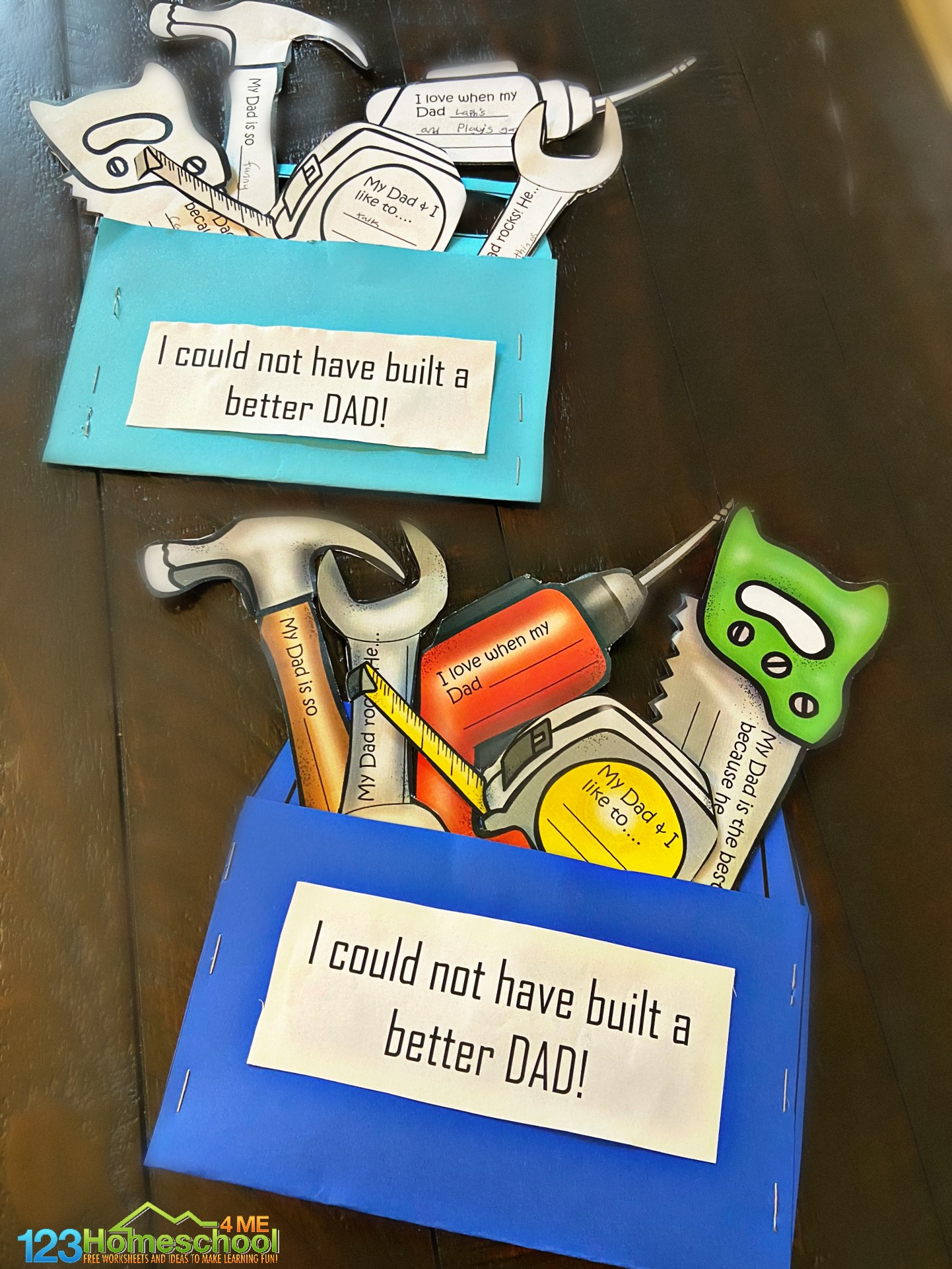 Cute Toolbox Fathers Day Craft